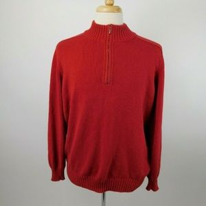 Loro Piana Italy Cotton 1/4 Zip Sweater
